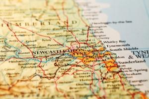 Newcastle-Tyne-and-Wear -Map