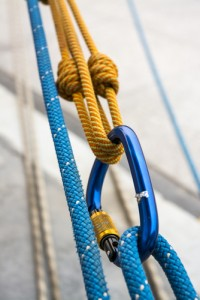 Carabiner and ropes